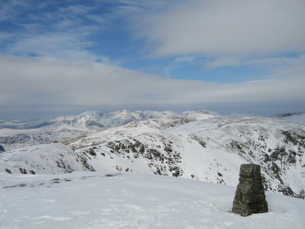 The Scafells from Coniston Old Man's trig point