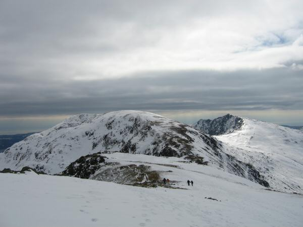 Looking back to Brim Fell with Dow Crag on the right