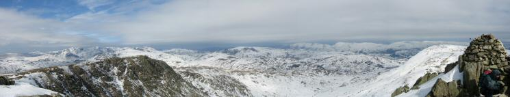 Northerly panorama from Swirl How's summit