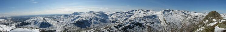 Southerly panorama from Loft Crag's summit