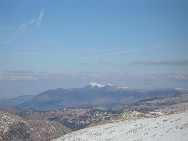 Looking north to Skiddaw from Pike o' Stickle's summit