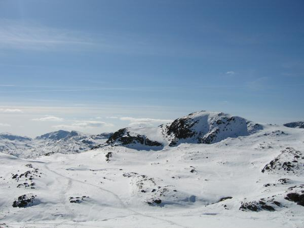 Looking back to Loft Crag from our ascent of Harrision Stickle