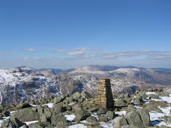 The north western fells from High Raise's summit