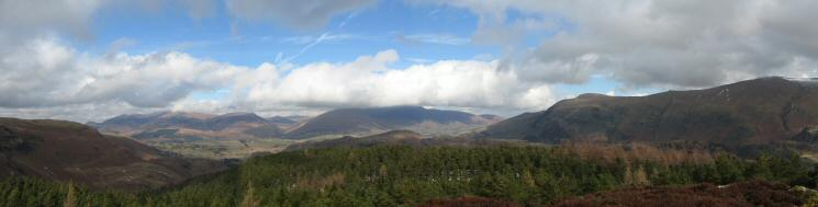 Northerly panorama from The Benn's summit