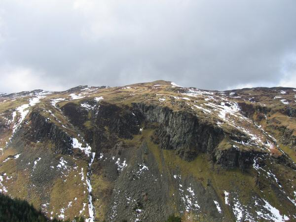 Looking across Shoulthwaite Gill to Iron Crag