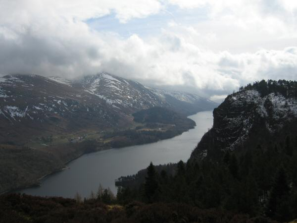 Thirlmere and Raven Crag from The Benn's summit