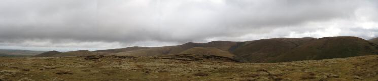 Easterly panorama from Great Cockup's summit