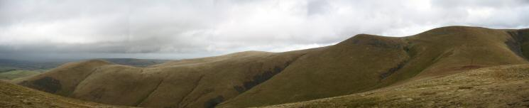 Lowthwaite Fell, Brae Fell, Little Sca Fell and Great Sca Fell from Meal Fell