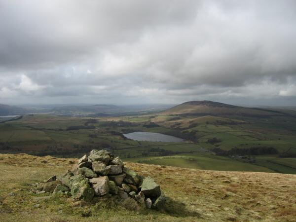 Over Water and Binsey from Longlands Fell's summit
