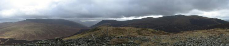 Southerly panorama from Great Calva's summit