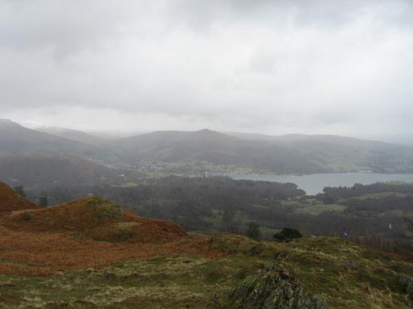 Looking down on Ambleside and the head of Windermere from Black Crag's summit