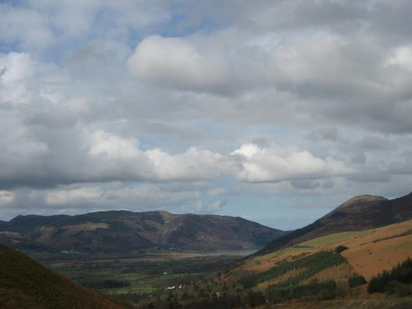 The Whinlatter fells from Latrigg car park