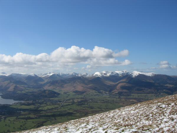 Looking across the Vale of Keswick to the north western fells from our ascent of Jenkin Hill