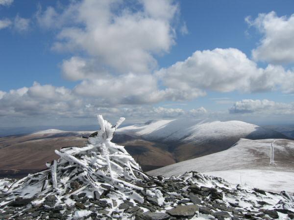 Skiddaw Lesser Man's summit cairn