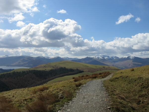 Latrigg with the north western fells behind from the Cumbria Way