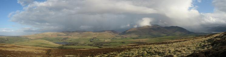Panorama of the northern fells