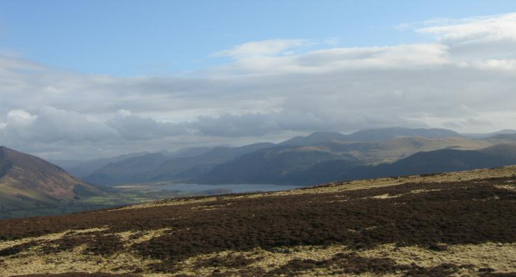 The view south to Bassenthwaite Lake and the north western fells