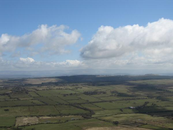 The view east to the North Pennines