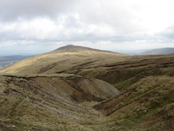 Looking back to Carrock Fell from the top of Drygill
