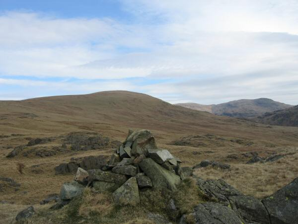 Seatallan, Little Scoat Fell and Red Pike from Buckbarrow's summit cairn