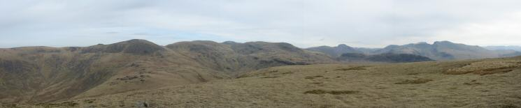 Easterly panorama from Seatallan - Haycock to the Scafells