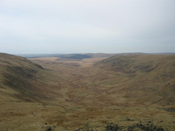 The valley of the River Bleng from above Stockdale Head
