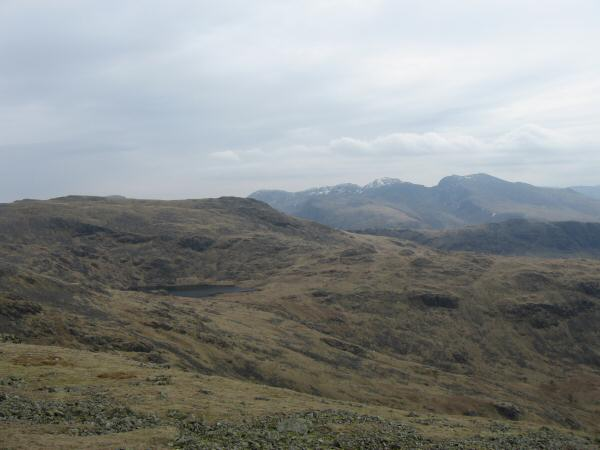 Red Pike with Scoat Fell in front and the Scafells from Haycock