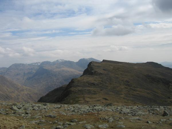 Red Pike with the Scafells behind from Scoat Fell