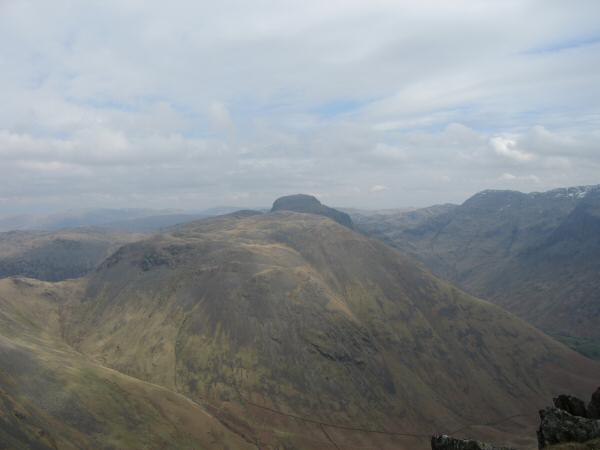 Kirk Fell with Great Gable behind from Red Pike's summit
