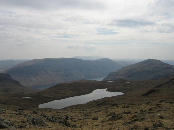 Low Tarn, Wastwater and The Screes with Middle Fell on the right