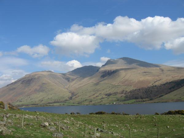 Looking across Wastwater to the Scafells