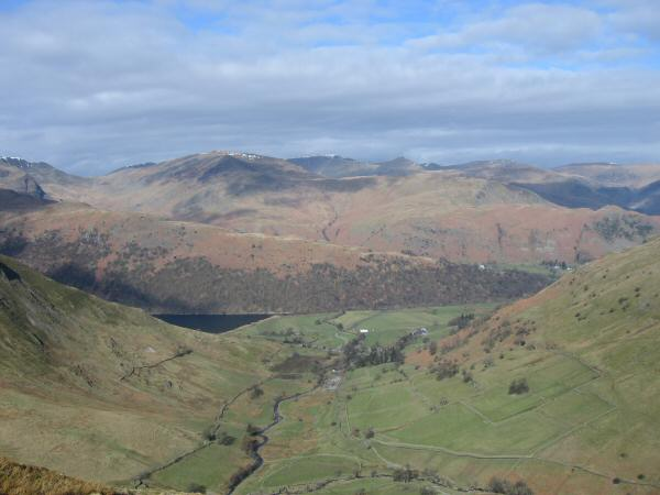 The view north west from Gray Crag
