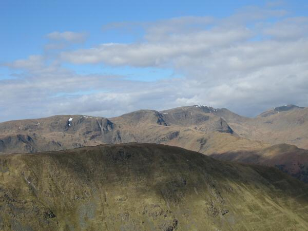 Looking over Hartsop Dodd to Dove Crag, Hart Crag and Fairfield