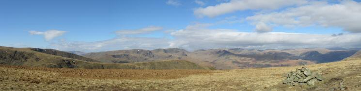 Westerly panorama from Gray Crag's summit