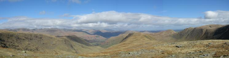 Northerly panorama from the Gray Crag - Thornthwaite Crag ridge