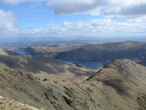 Long Stile leading to Rough Crag, Haweswater and the North Pennines in the distance from High Street