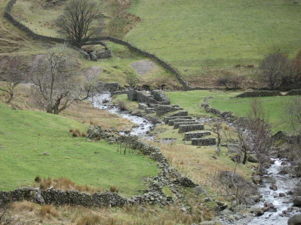 The remains of the 19th century Myers' Head Lead Mine