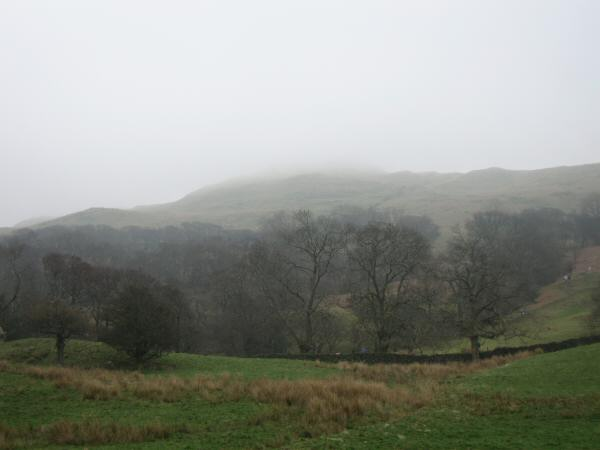 Wansfell Pike is somewhere up there