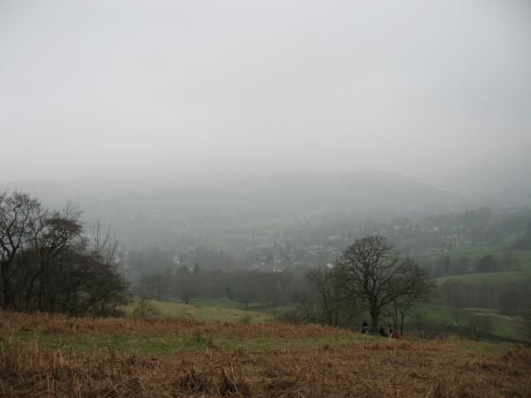 Ambleside is down there and Loughrigg Fell beyond