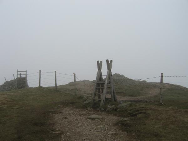 Wansfell Pike summit, no views today