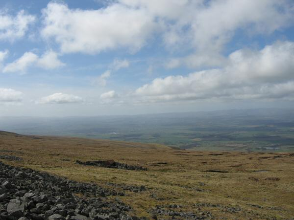 Looking across to the bothy marked to the west of Cross Fell's summit (no roof and well ventilated!)