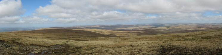 Northerly panorama from the climb to Cross Fell's summit