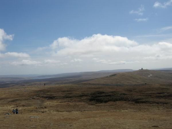 The radar station on Great Dun Fell from Cross Fell