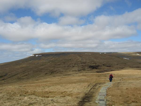 Looking back to Cross Fell from our ascent of Little Dun Fell
