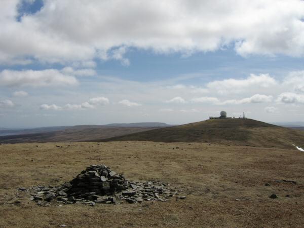 Great Dun Fell from Little Dun Fell's summit cairn
