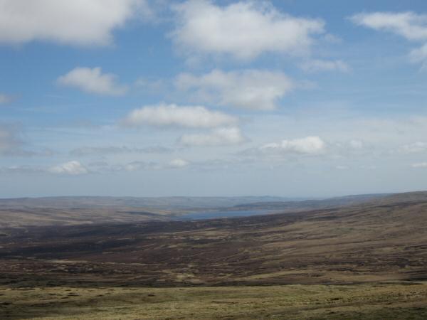 Cow Green Reservoir from Great Dun Fell
