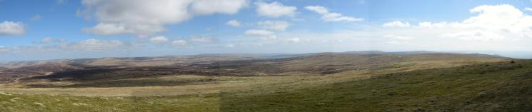 Easterly panorama from Great Dun Fell's summit