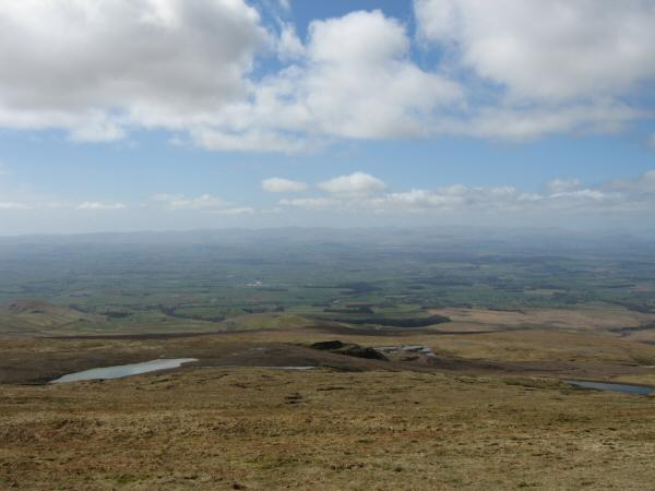 The Silverband Mine from Great Dun Fell's summit