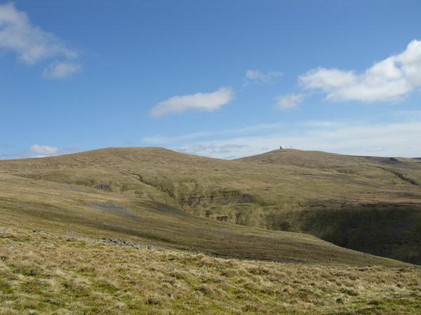 Little Dun Fell and Great Dun Fell from the path down to Wildboar Scar