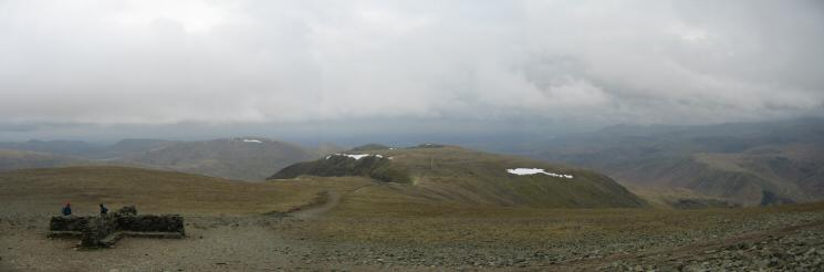 The view south from Helvellyn's summit